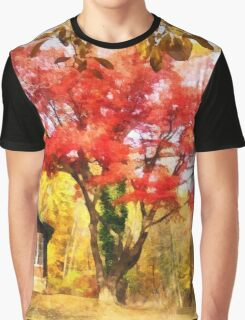 Red Autumn Sycamore Graphic T-Shirt