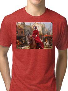 Whippet Art - The Hunt Tri-blend T-Shirt