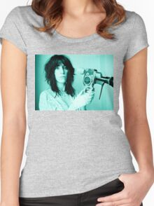 Patti Smith - Tee Print Women's Fitted Scoop T-Shirt
