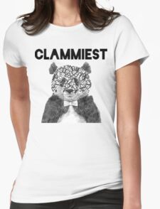 Clammiest Panda (Face) Womens Fitted T-Shirt
