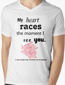 heartbeat biology Mens V-Neck T-Shirt