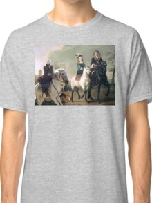 Whippet Art Canvas Print - The gossip Countess Classic T-Shirt