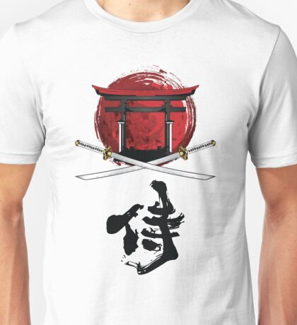Samurai Katana Tori gate Kanji Unisex T-Shirt