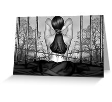 Private Prison of Pain - Self Portrait Greeting Card