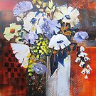 Still Life in White Vase by bevmorgan