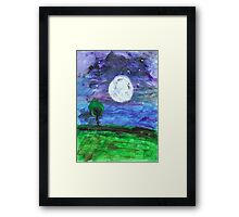 Eric Carle inspired painting Framed Print