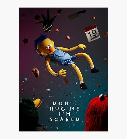 Don't Hug Me I'm Scared Photographic Print