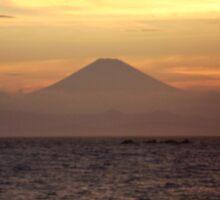 Mt. Fuji Sunset V Sticker