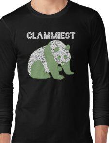 Clammiest Panda (Black, White, Green) Long Sleeve T-Shirt