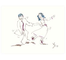 Jump To The Beat - Classic Rock and Roll Jivers Art Print