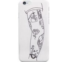 Poorly Drawn Harry Arm Tattoos iPhone Case/Skin