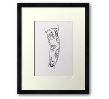 Poorly Drawn Harry Arm Tattoos Framed Print