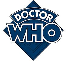 Dr who logo 1973-1980 Photographic Print