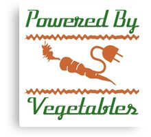 Powered by Vegetables Canvas Print