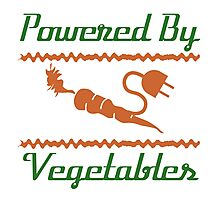 Powered by Vegetables Photographic Print