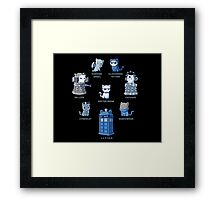 Dr Who - Cat style Framed Print