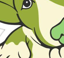 Pondering EBT Cartoon Green Sticker