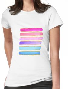 summer stripes 2 Womens Fitted T-Shirt