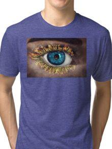 Eye in Flames Tri-blend T-Shirt