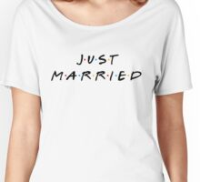 Just Married Friends Style - Black Women's Relaxed Fit T-Shirt