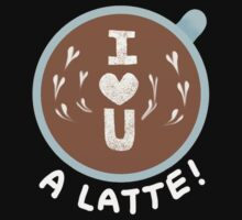 I love you - A latte! One Piece - Short Sleeve