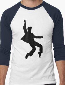 B&W Elvises Men's Baseball ¾ T-Shirt
