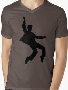 B&W Elvises Mens V-Neck T-Shirt