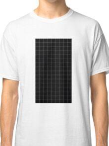 black grid Classic T-Shirt