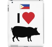 Philippines I love Lechon iPad Case/Skin