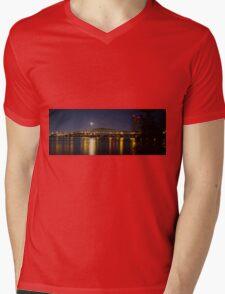 Columbia River I 5 Bridge Mens V-Neck T-Shirt
