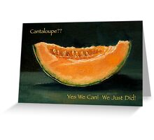 Elopement Announcement, Humorous, Cantaloupe Painting, Pun Greeting Card