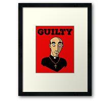 Guilty Priest Framed Print
