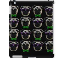 """""""Cool Pugs"""" green/purple iPad Case/Skin"""