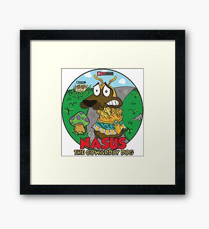 Nasus the cowardly dog! Framed Print