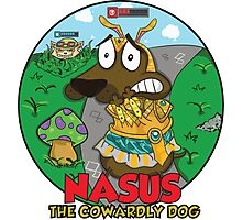 Nasus the cowardly dog! Photographic Print