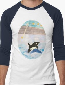 Mixed Media Whale Under A Night Sky T-Shirt