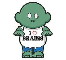 I <3 Brains Photographic Print