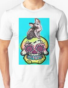 Ayla the sphynx and calavera T-Shirt