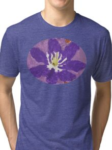 Impressionist Purple Lily Flower Tri-blend T-Shirt