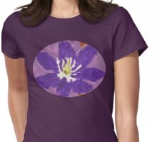 Impressionist Purple Lily Flower Womens Fitted T-Shirt