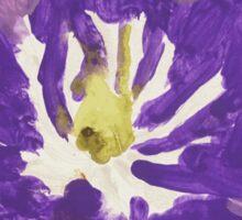 Impressionist Purple Lily Flower Sticker