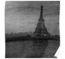 Eiffel Painting Poster