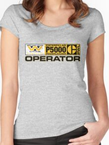 Powerloader Operator Women's Fitted Scoop T-Shirt