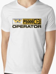 Powerloader Operator Mens V-Neck T-Shirt