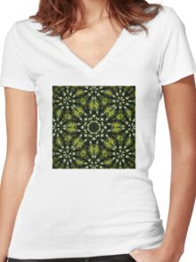 The Tangled Green Women's Fitted V-Neck T-Shirt
