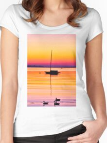 Saturated Skies Women's Fitted Scoop T-Shirt