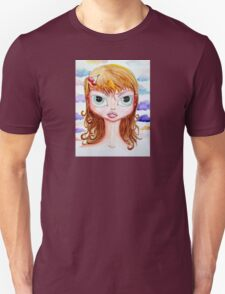 Cherry Girl Watercolor T-Shirt