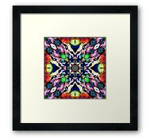 Textured Balance of Colors Framed Print