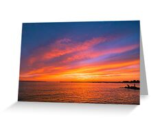 Fishing The Sunset Greeting Card