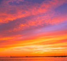 Fishing The Sunset Sticker